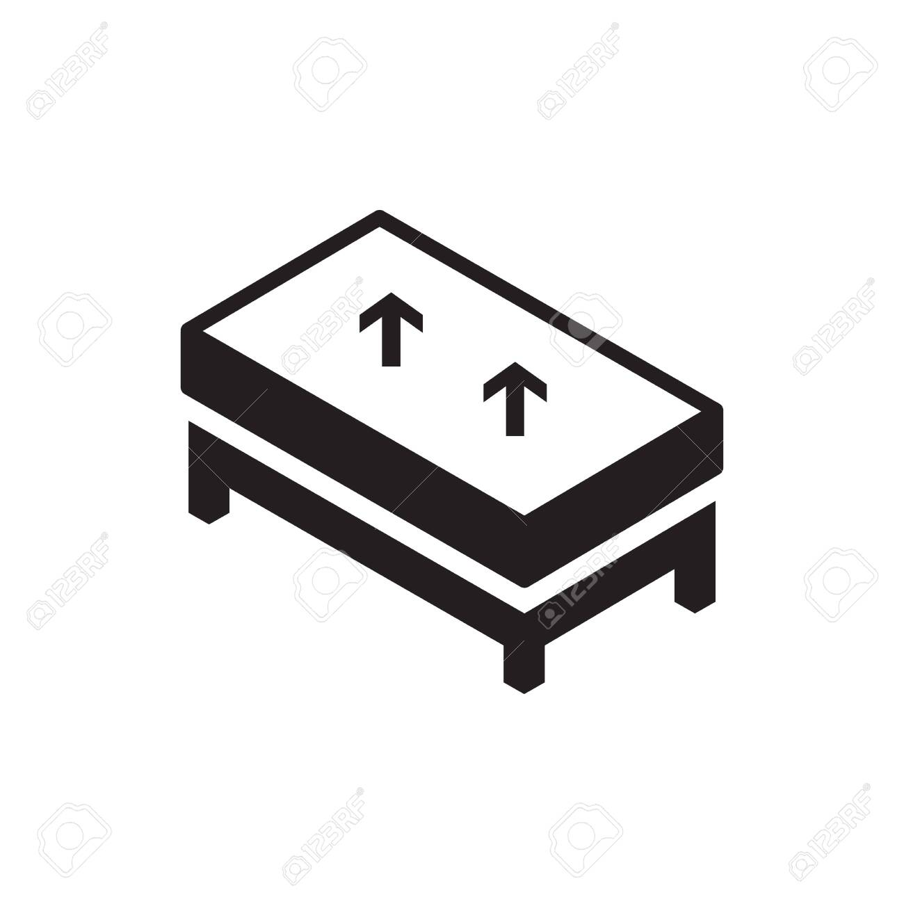 Mattress Vector Icon Logo Design Royalty Free Cliparts Vectors And Stock Illustration Image 154782321