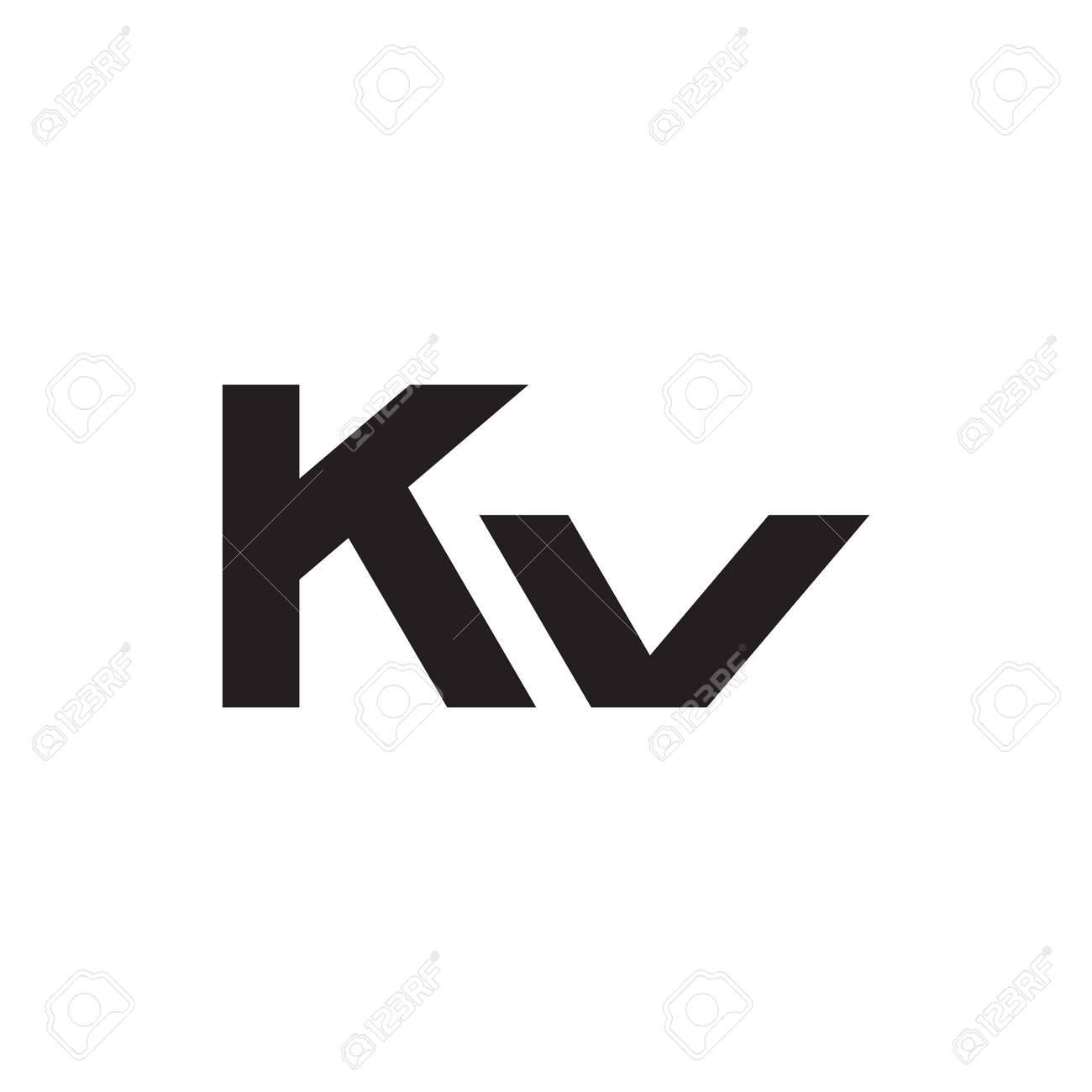 kv initial letter vector logo icon - 157312914