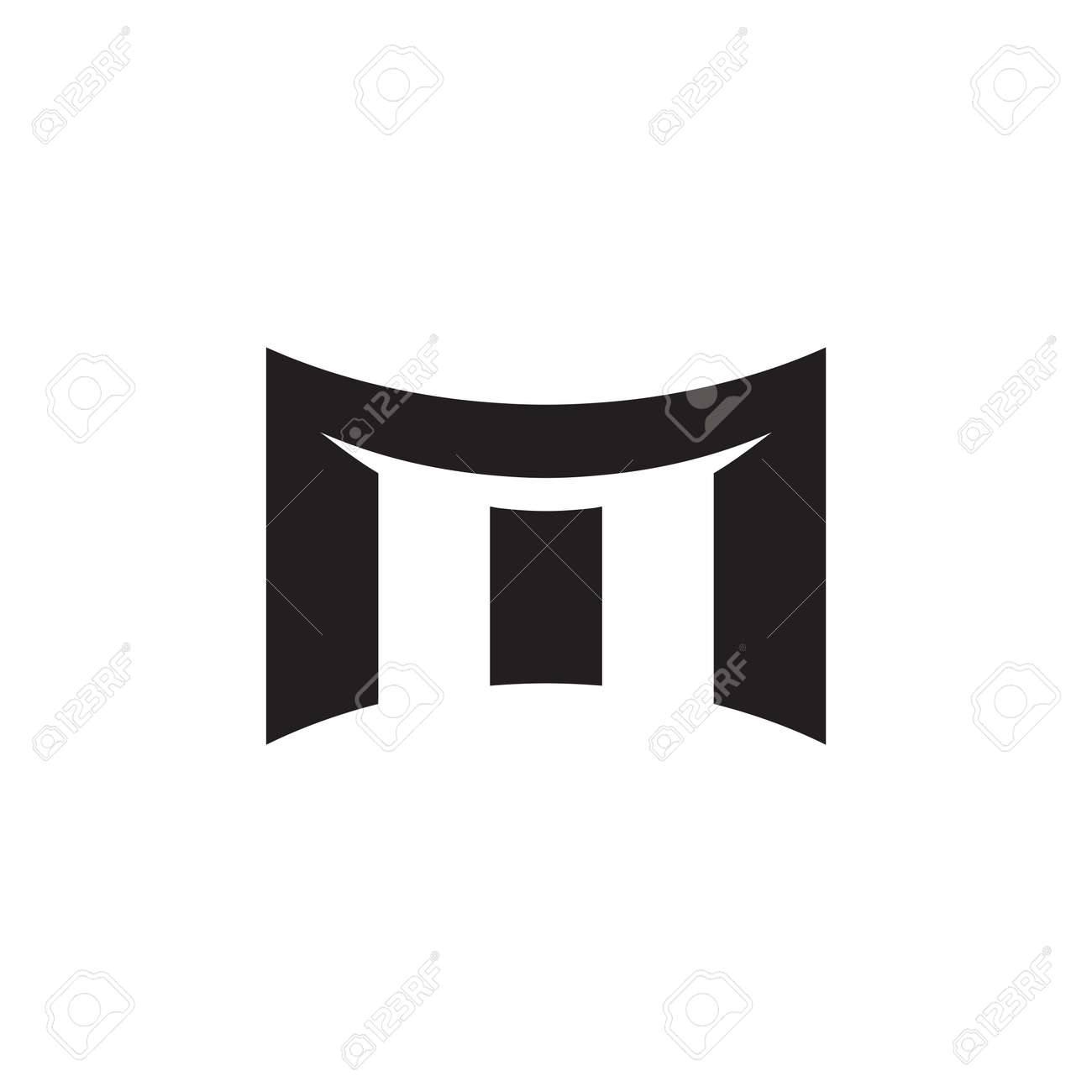m initial letter vector logo icon - 157647542