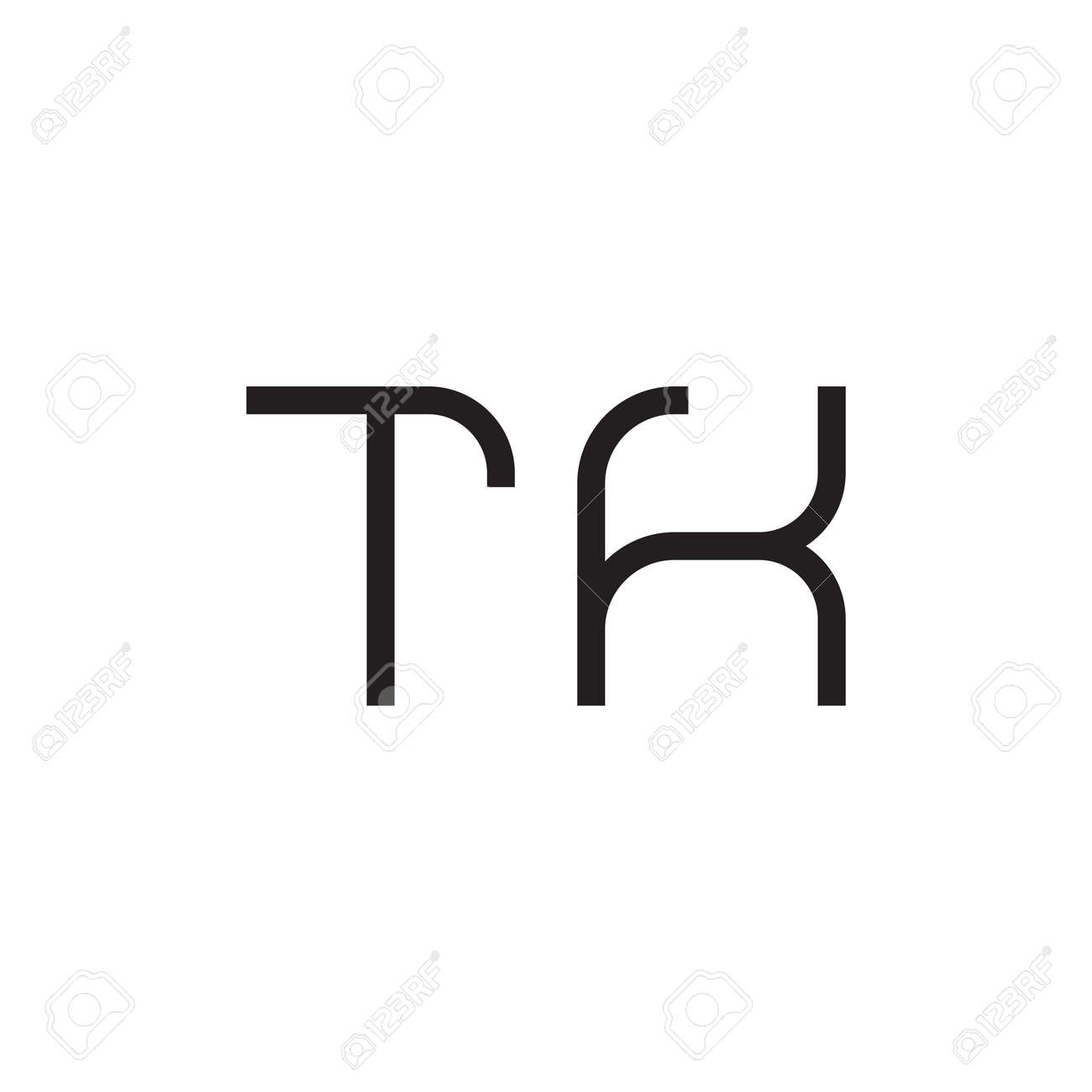 tk initial letter vector logo icon - 162049676