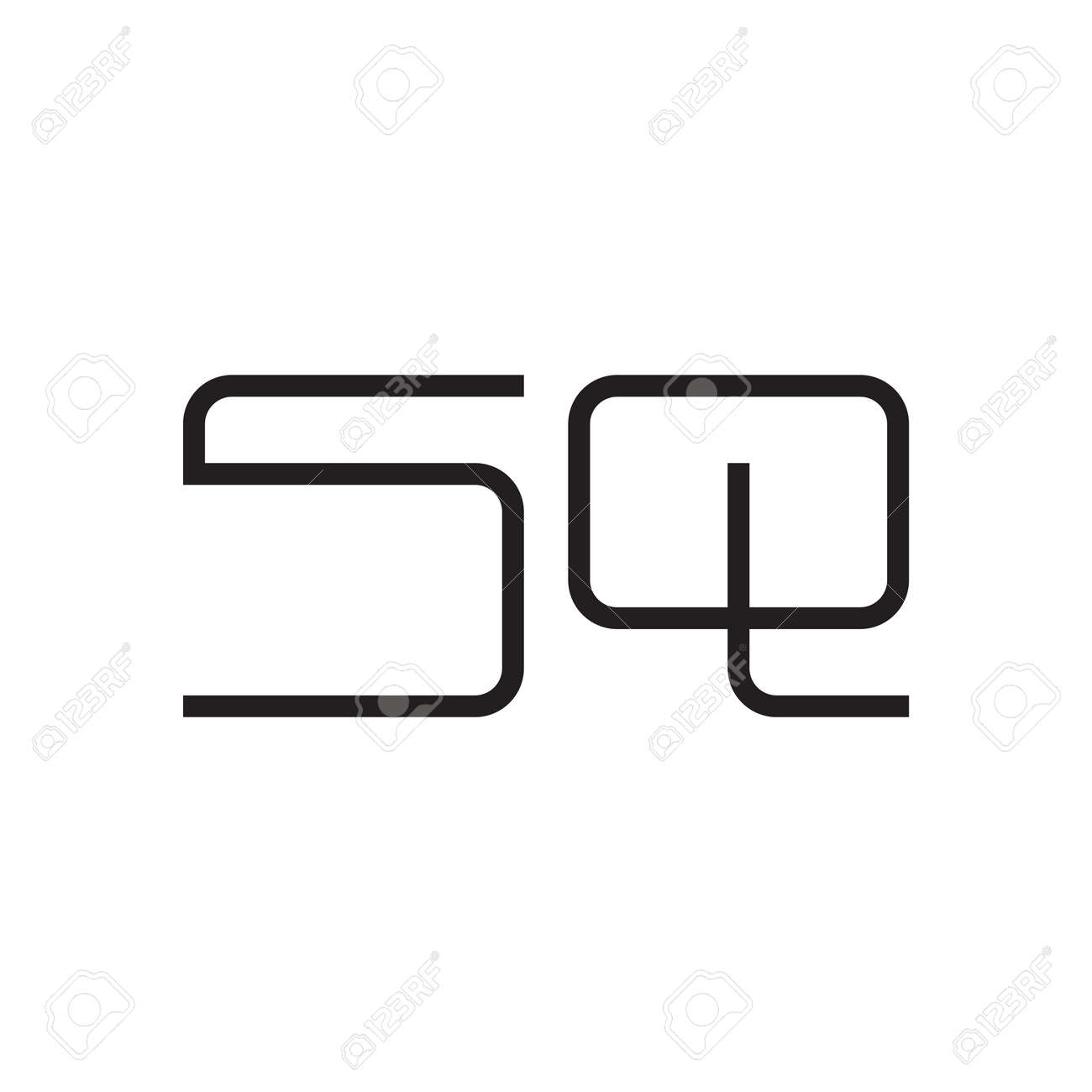 sq initial letter vector logo icon - 162948000