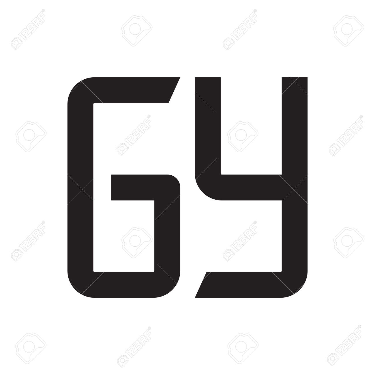 gy initial letter vector logo icon - 164321954