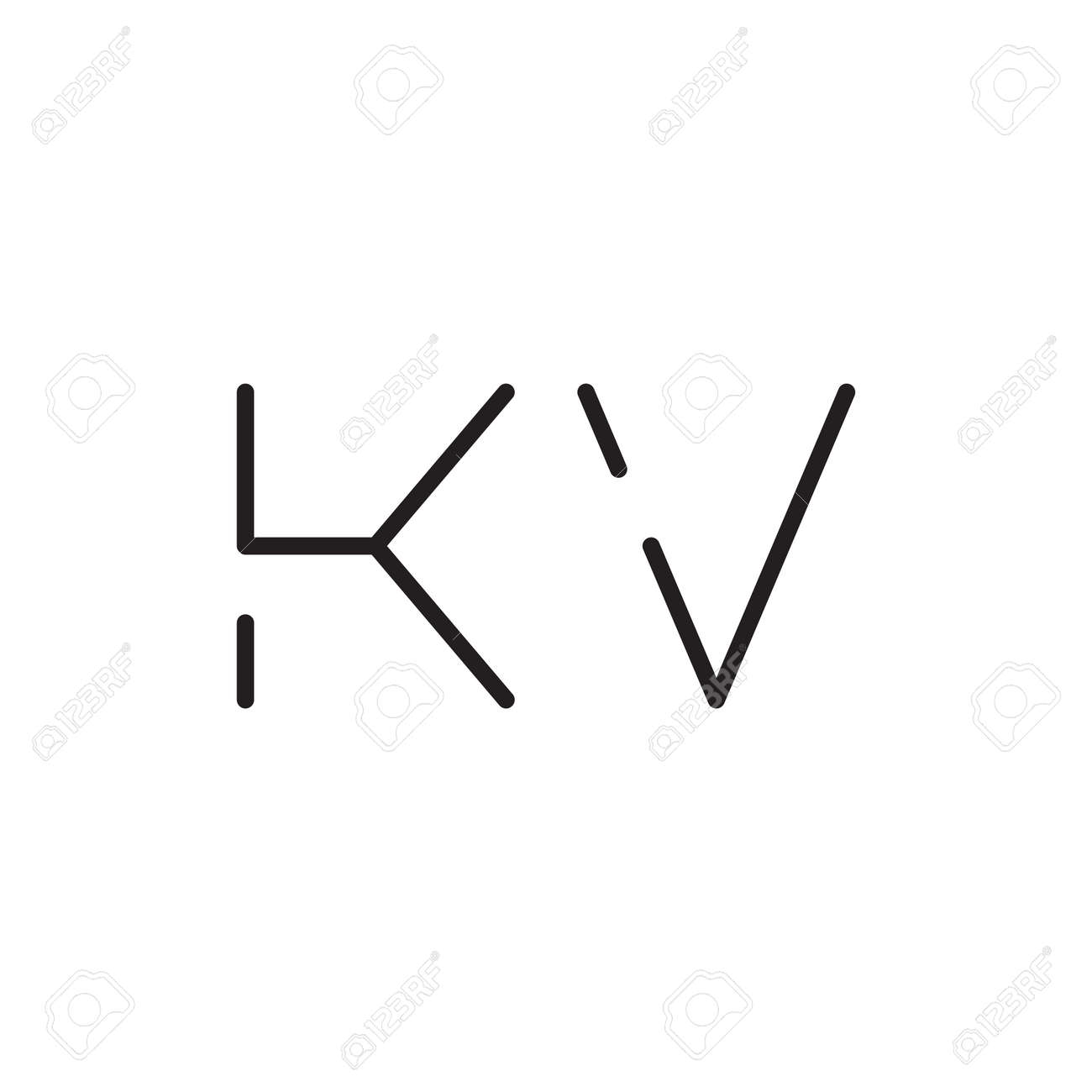 kv initial letter vector logo icon - 164323496