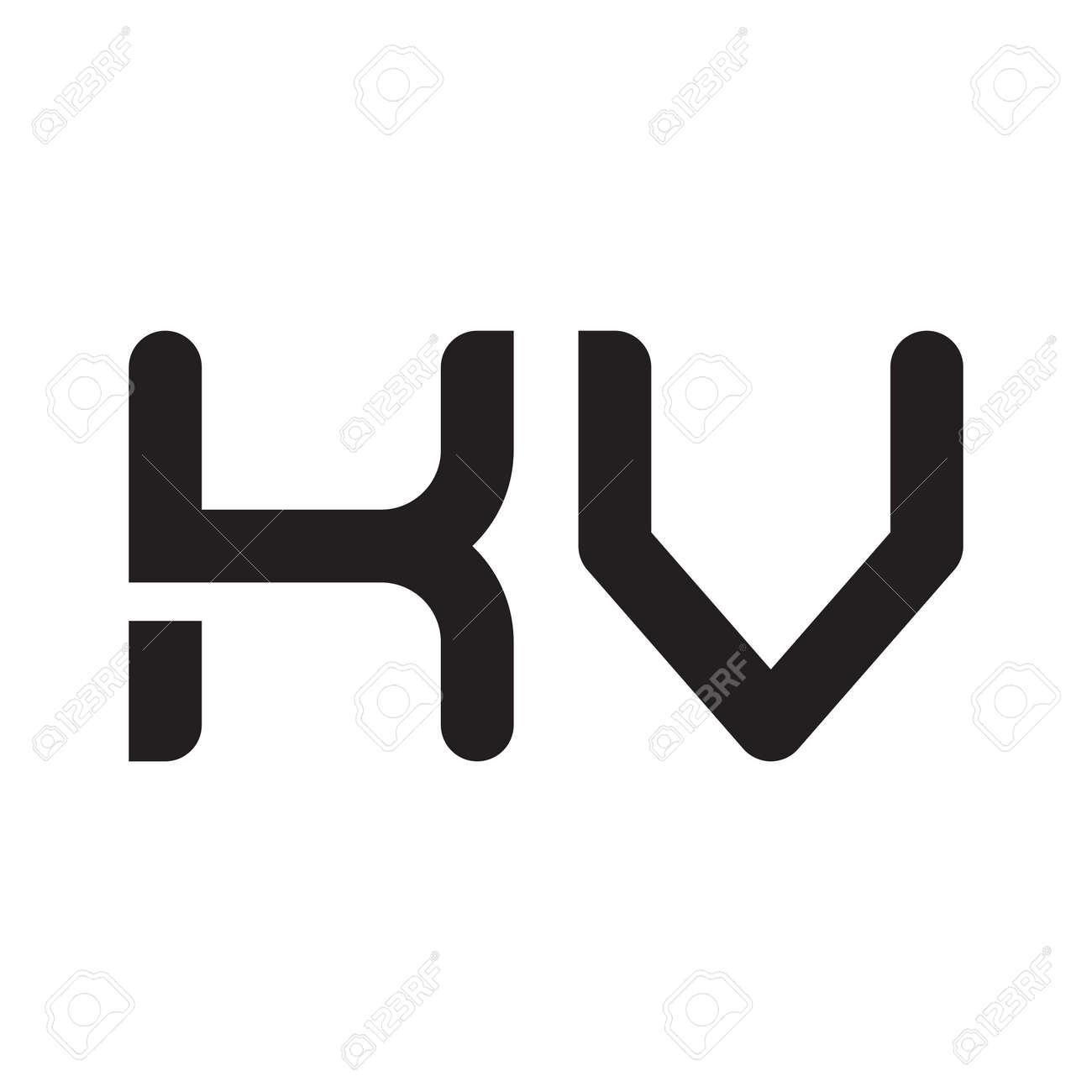 kv initial letter vector logo icon - 164323710