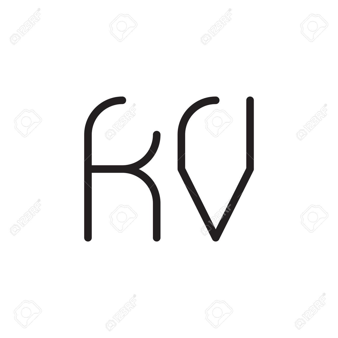 kv initial letter vector logo icon - 164323795