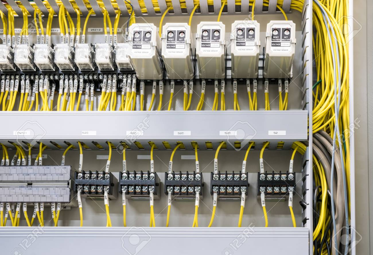 Electrical Panel At A Assembly Line Factory Electricity Distribution Stock Photo Picture And Royalty Free Image Image 103306065