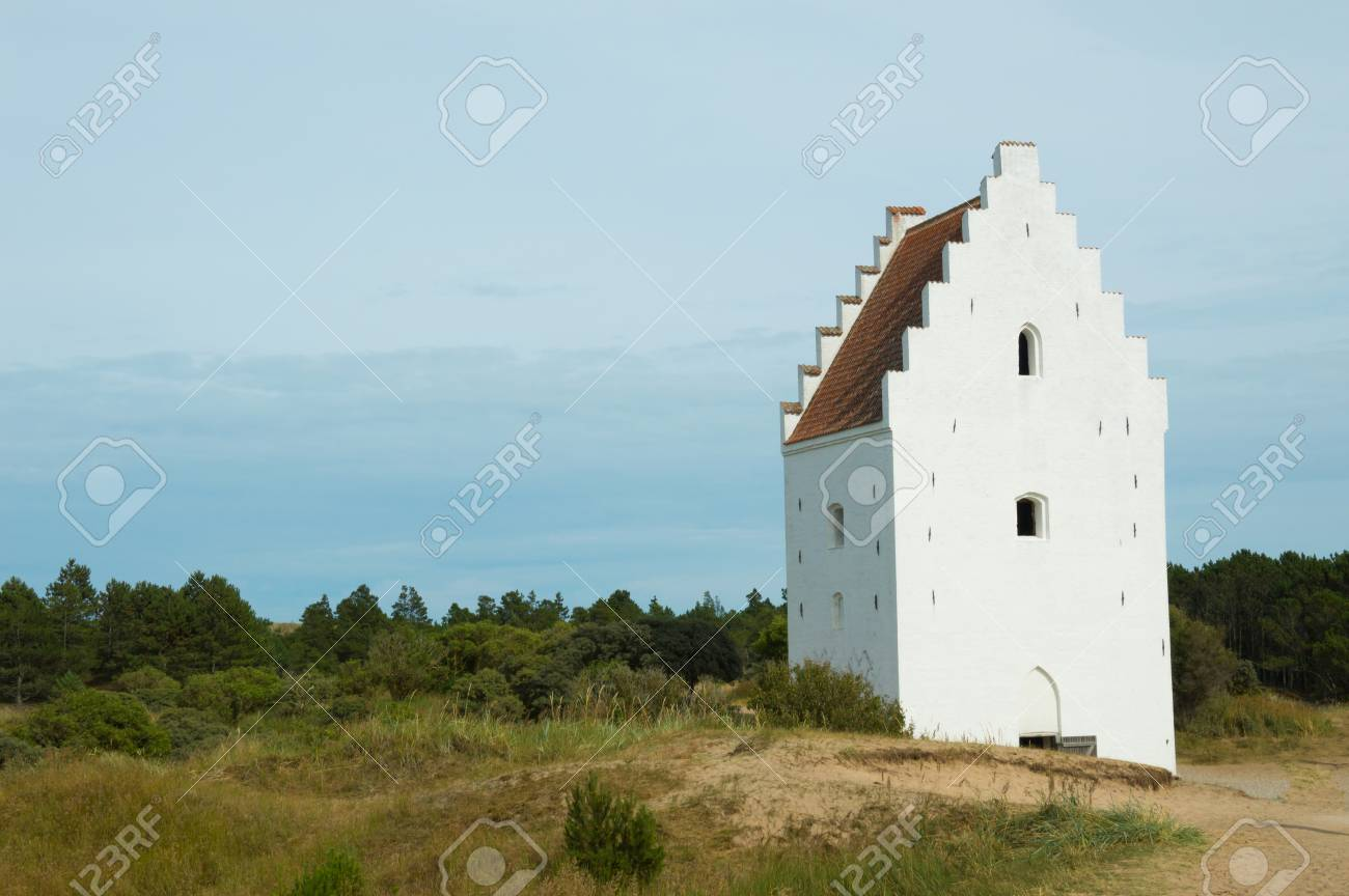 Den Tilsandede Kirke, Sand-Buried Church, Skagen, Jutland, Denmark Stock Photo - 83766700