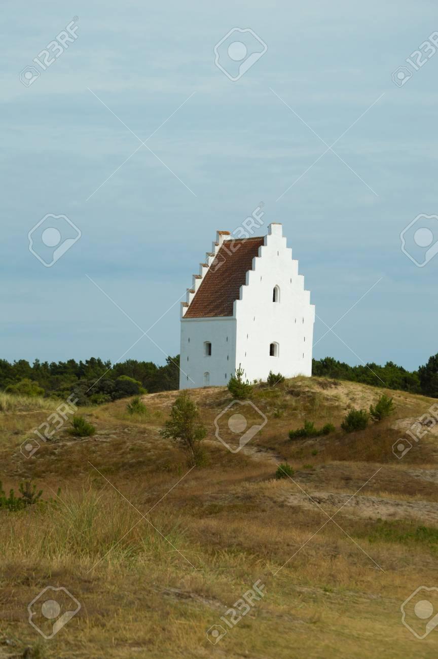 Den Tilsandede Kirke, Sand-Buried Church, Skagen, Jutland, Denmark Stock Photo - 83766702