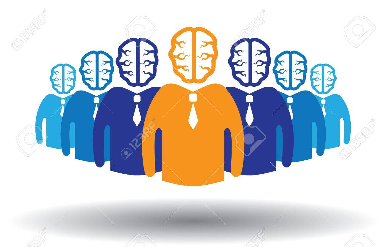 Concept of success of a person in a group. Can also accomplishment of success in corporate establishment. Stock Vector - 13588415