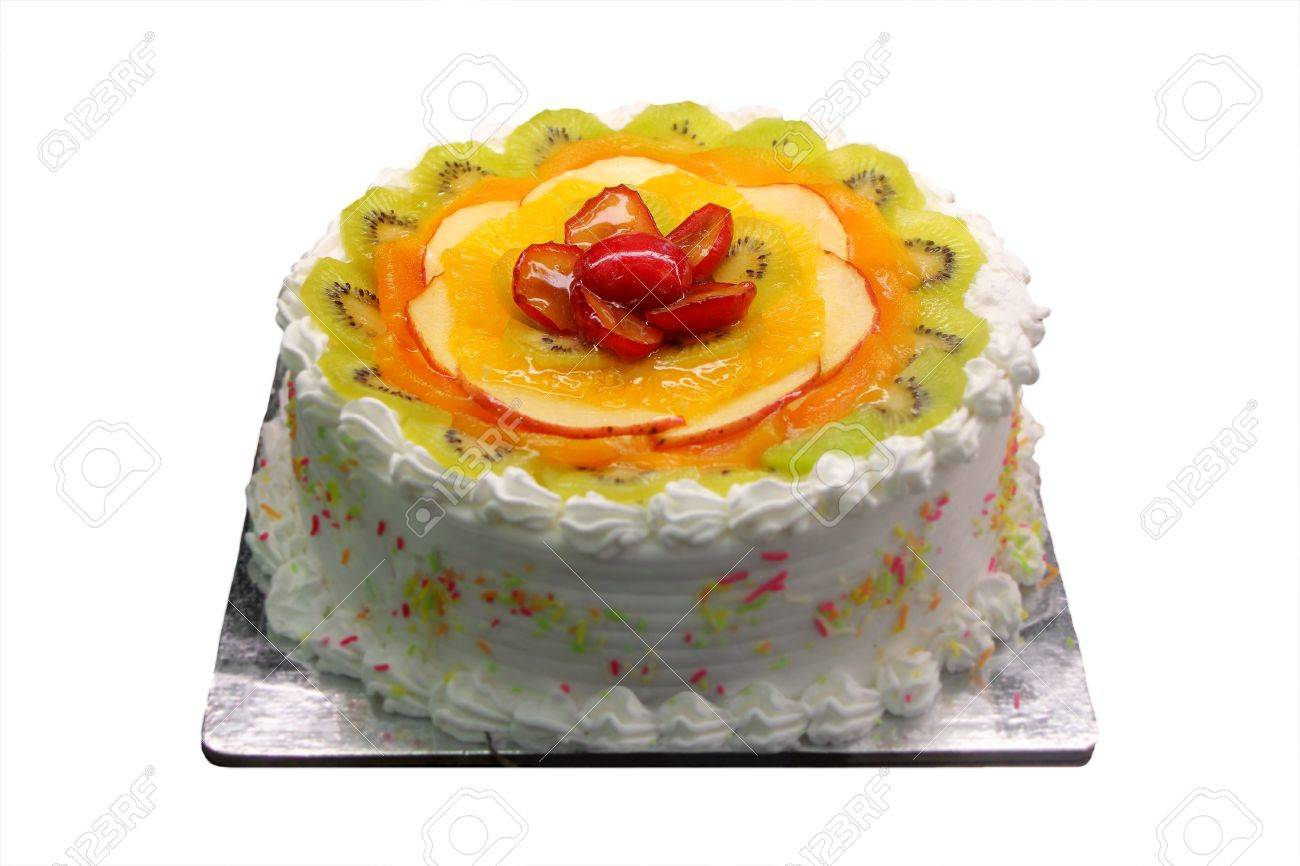 Delicious And Yummy White Birthday And Party Cake With Sliced