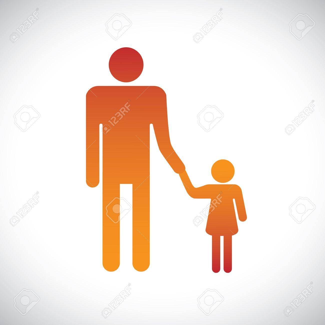 Concept illustration of father & daughter together. This graphic represents the bonding between a parent and child Stock Vector - 16600343