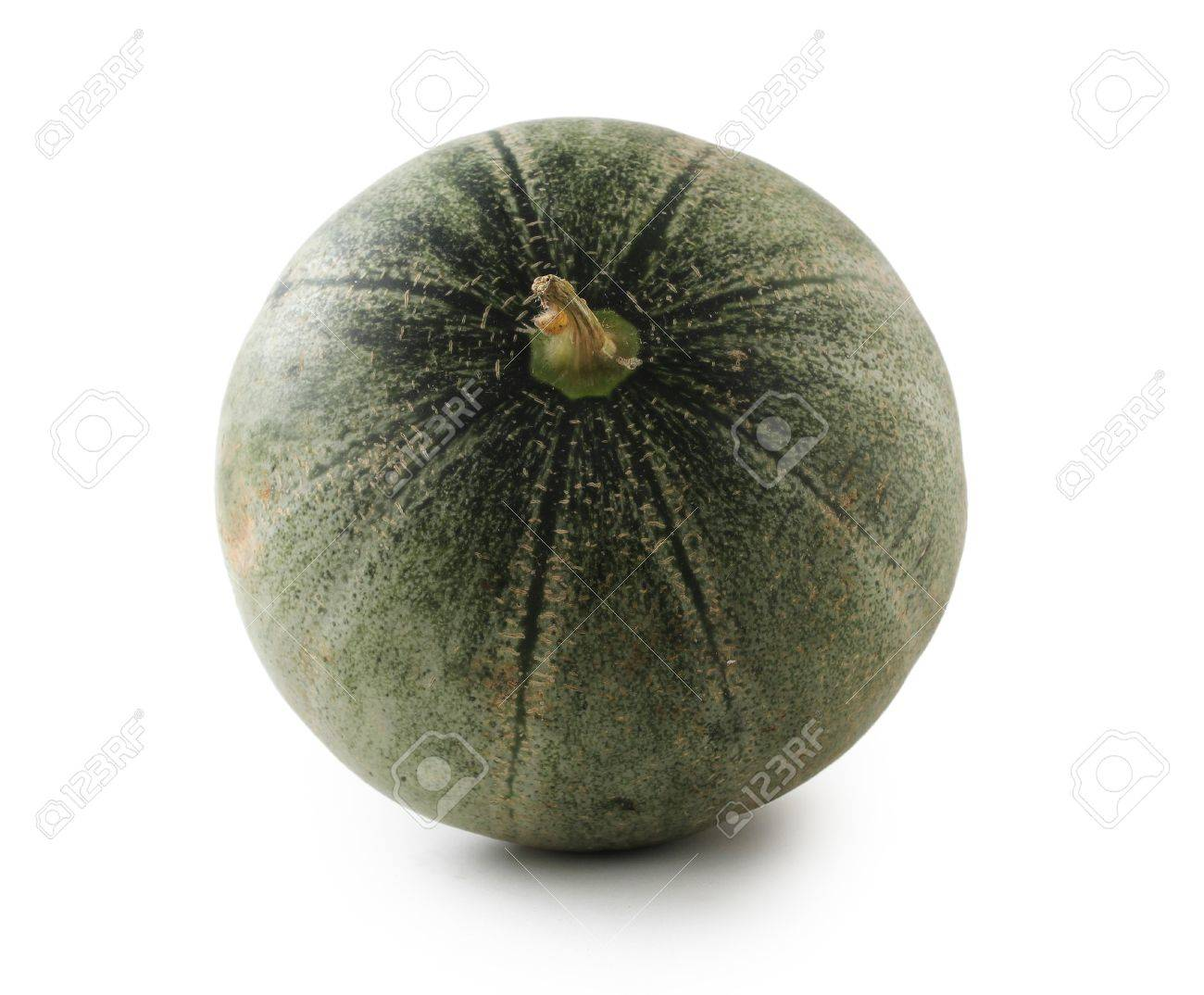 Closeup photo of juicy green melon on white background Stock Photo - 16894841