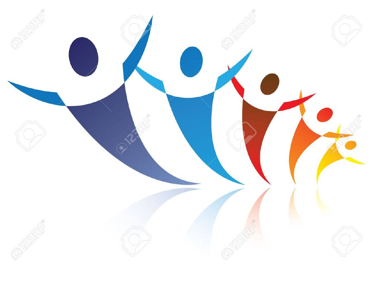 Colorful illustration of people together being positive and happy colorful illustration of people together being positive and happy the graphic represents symbolsicons biocorpaavc