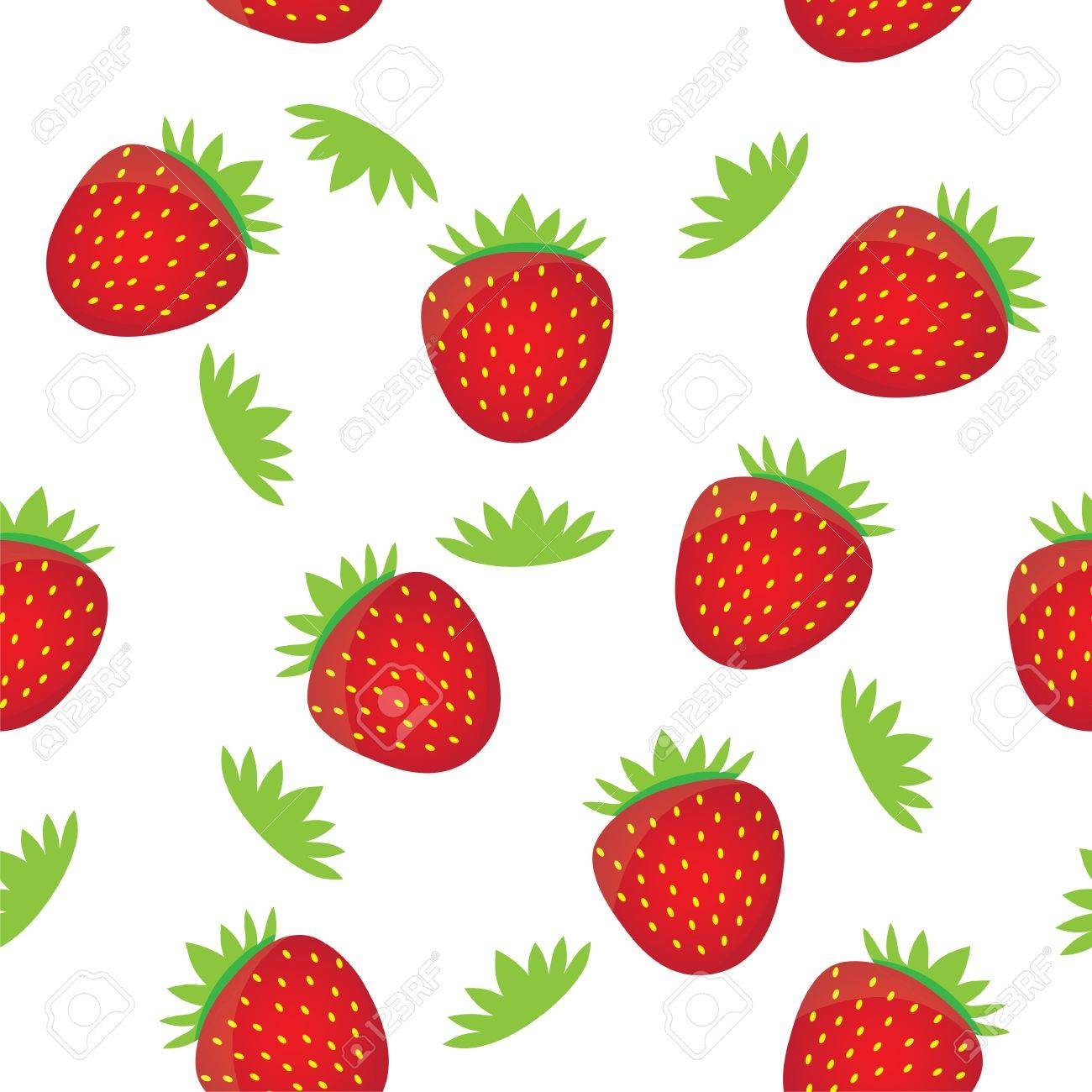 seamless background pattern template colorful strawberry fruits