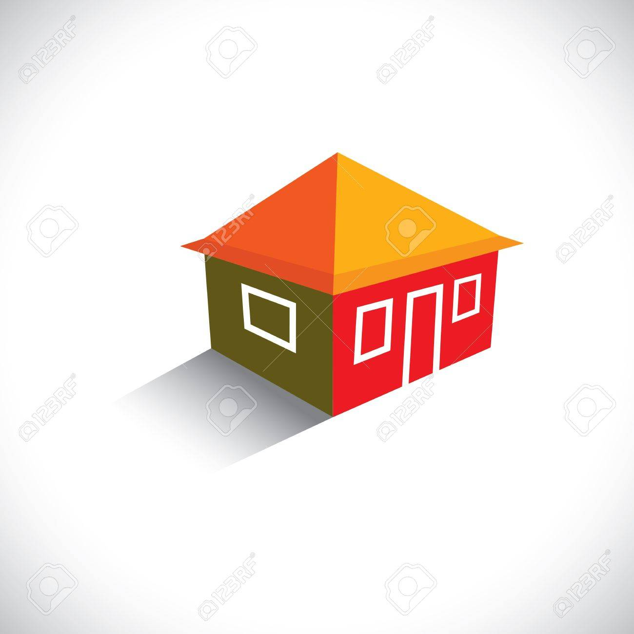 House(home) or hut icon for real estate- graphic. The illustration is also a icon for buying & selling property, residential accommodations, travel & tourism, camping, hiking & adventure, etc Stock Vector - 19871246