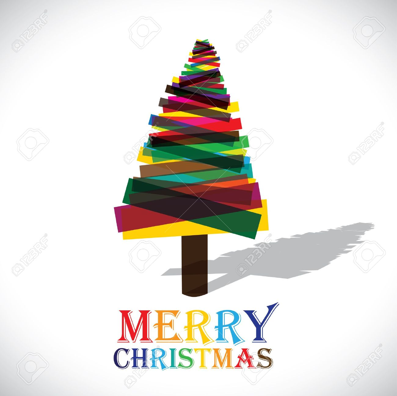 Christmas Graphics Vector.Abstract Colorful Xmas Tree On White Background Vector Graphic
