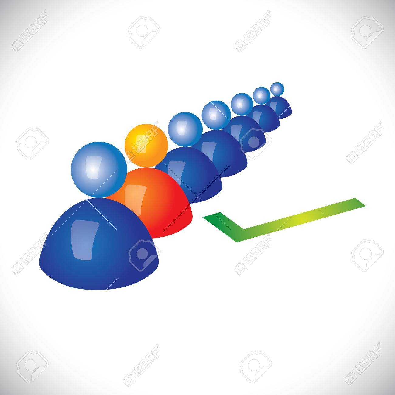 concept of selecting or hiring right staff, worker or employee. Stock Vector - 22242125