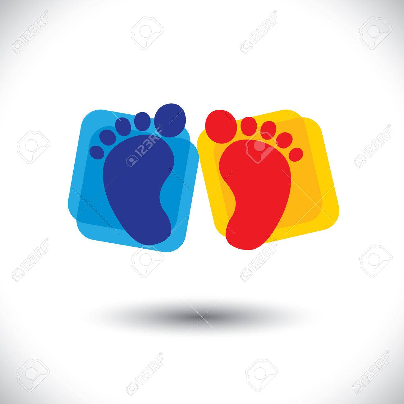 Babys colorful pair of foot sign or symbol for nursery school babys colorful pair of foot sign or symbol for nursery school stock vector 22242385 biocorpaavc Gallery