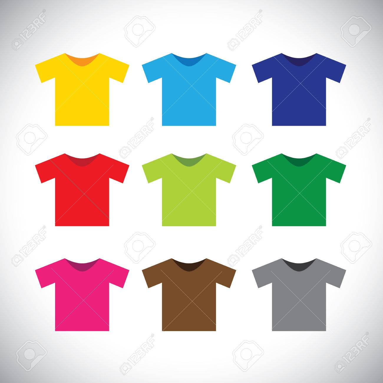 Black t shirt vector - Vector Colorful T Shirts Vector Icons This Graphic Consists Of Tee Shirts In Colors Like Red Orange Black Blue Green Yellow Pink And Other Bright