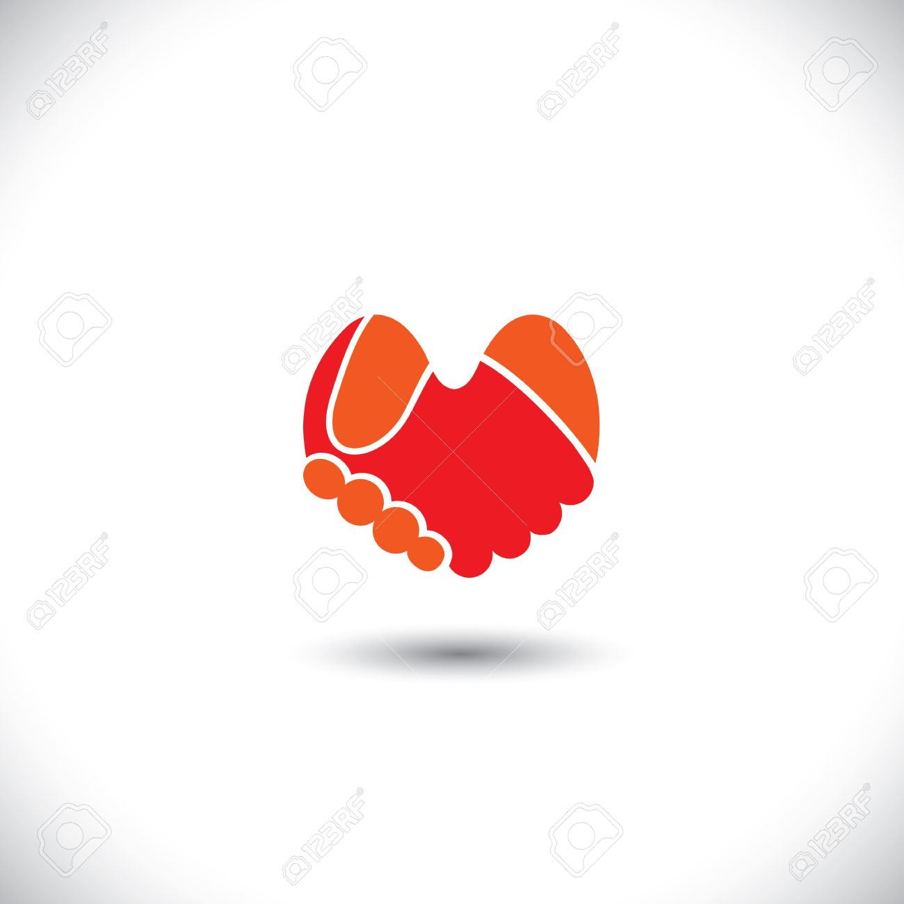 Love Vector - Heart Shaped Handshake Icon Of Boy & Girl. This ...