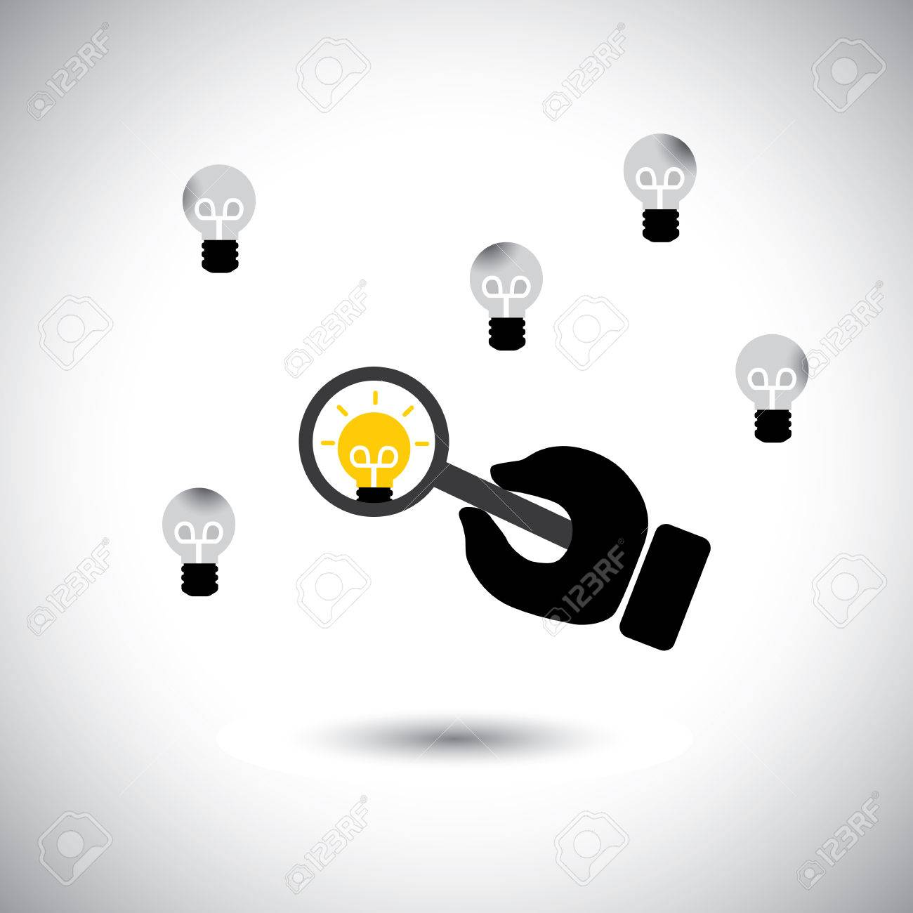 finding talented employees best ideas concept vector vector finding talented employees best ideas concept vector this graphic icon also represents the job of human resources department