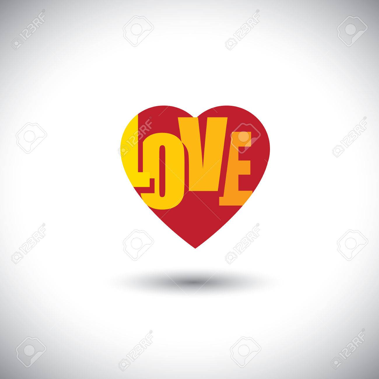 Human Heart Icon And Love Words Inside It Simple Vector Graphic This Has The