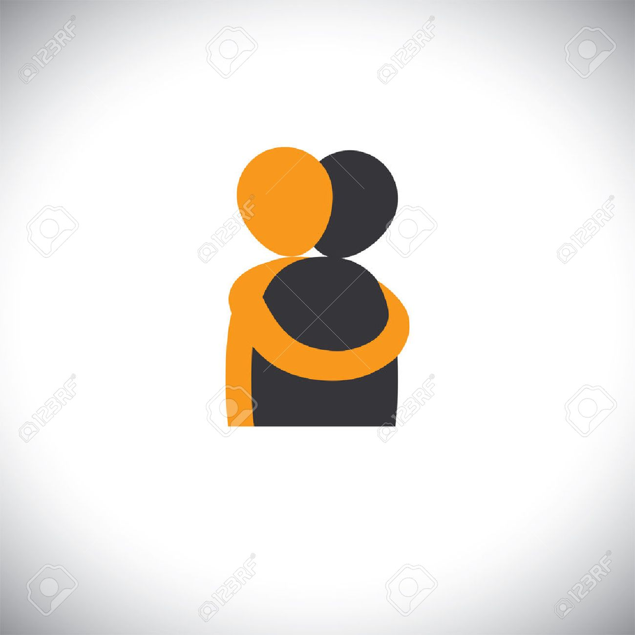 People Hug Each Other Friends Embrace Vector Graphic This