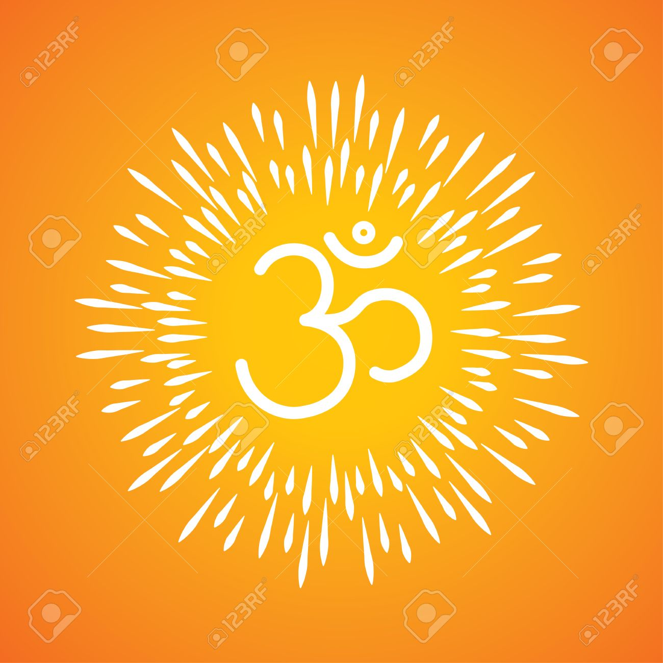 Om symbol vector icon sunburst like rays emerging from the om symbol vector icon sunburst like rays emerging from the aum sign stock vector biocorpaavc Choice Image