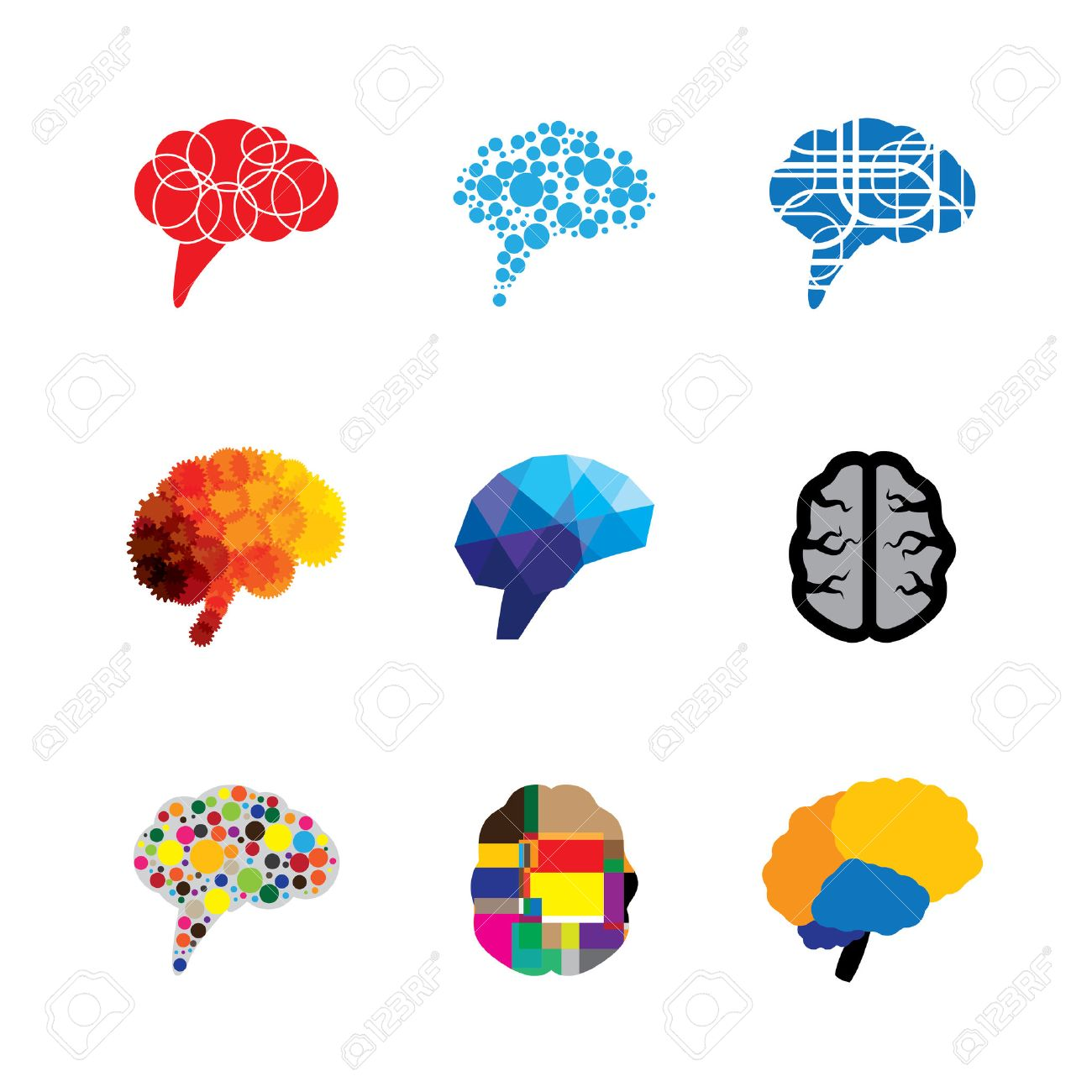 concept vector logo icons of brain and mind this graphic also rh 123rf com vector logo freepik vector logo free download cdr