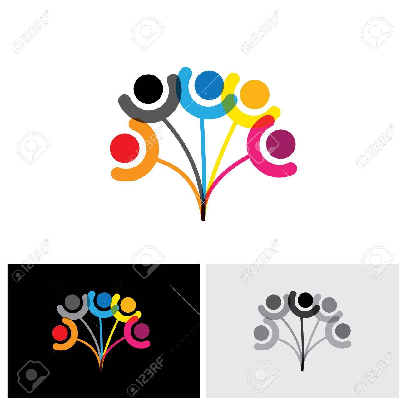 Konzept Vektor Symbol Der Familie Baum Zeigt Bindung Beziehung