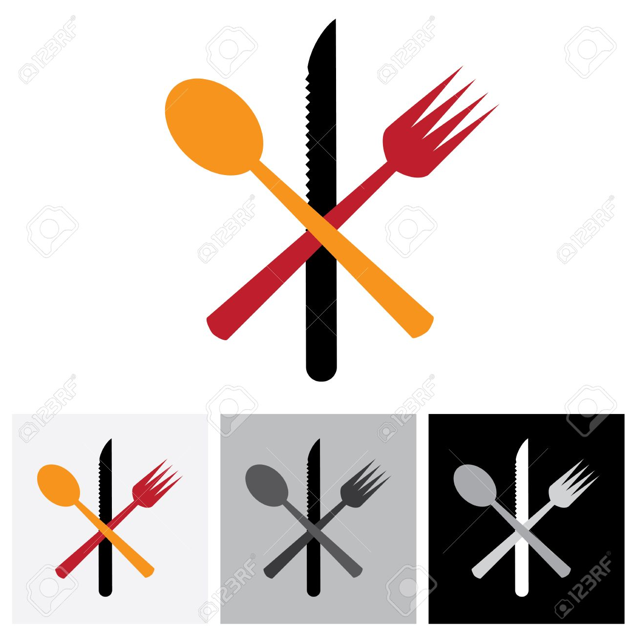 Abstract icons symbols of spoon knife fork vector logo abstract icons symbols of spoon knife fork vector logo icon this buycottarizona Choice Image