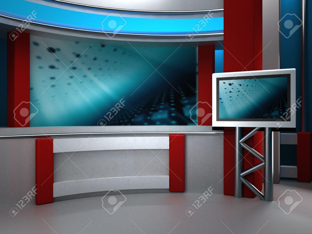 background studio for tv chroma Stock Photo - 10883705