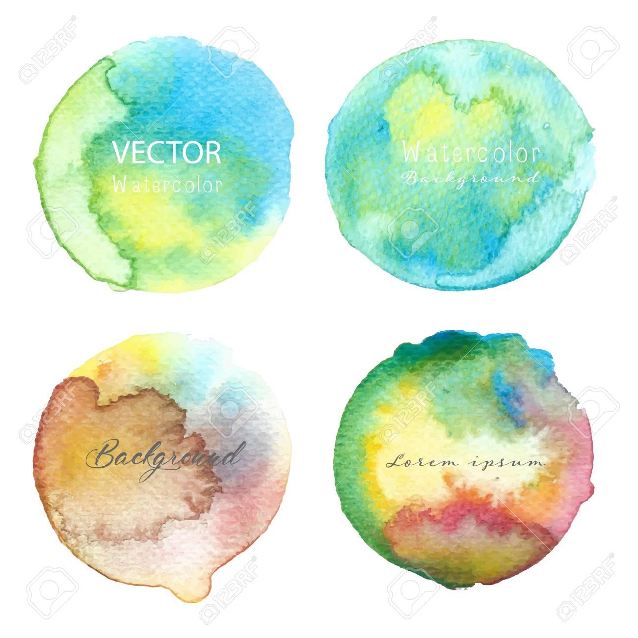 Blue Watercolour Circle Set On White Background Watercolor Logo