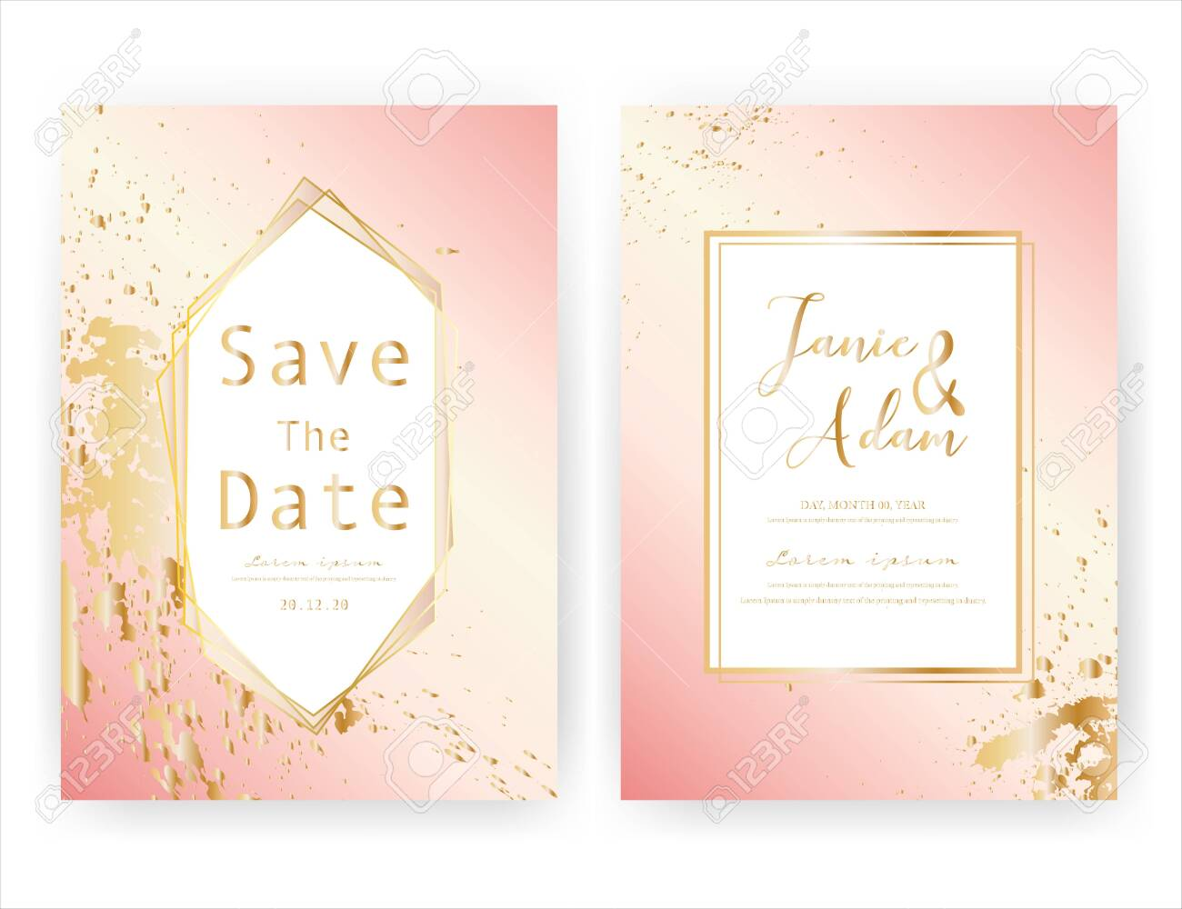 54d0ad36d9b0e Wedding invitation card, Save the date wedding card, Modern card..