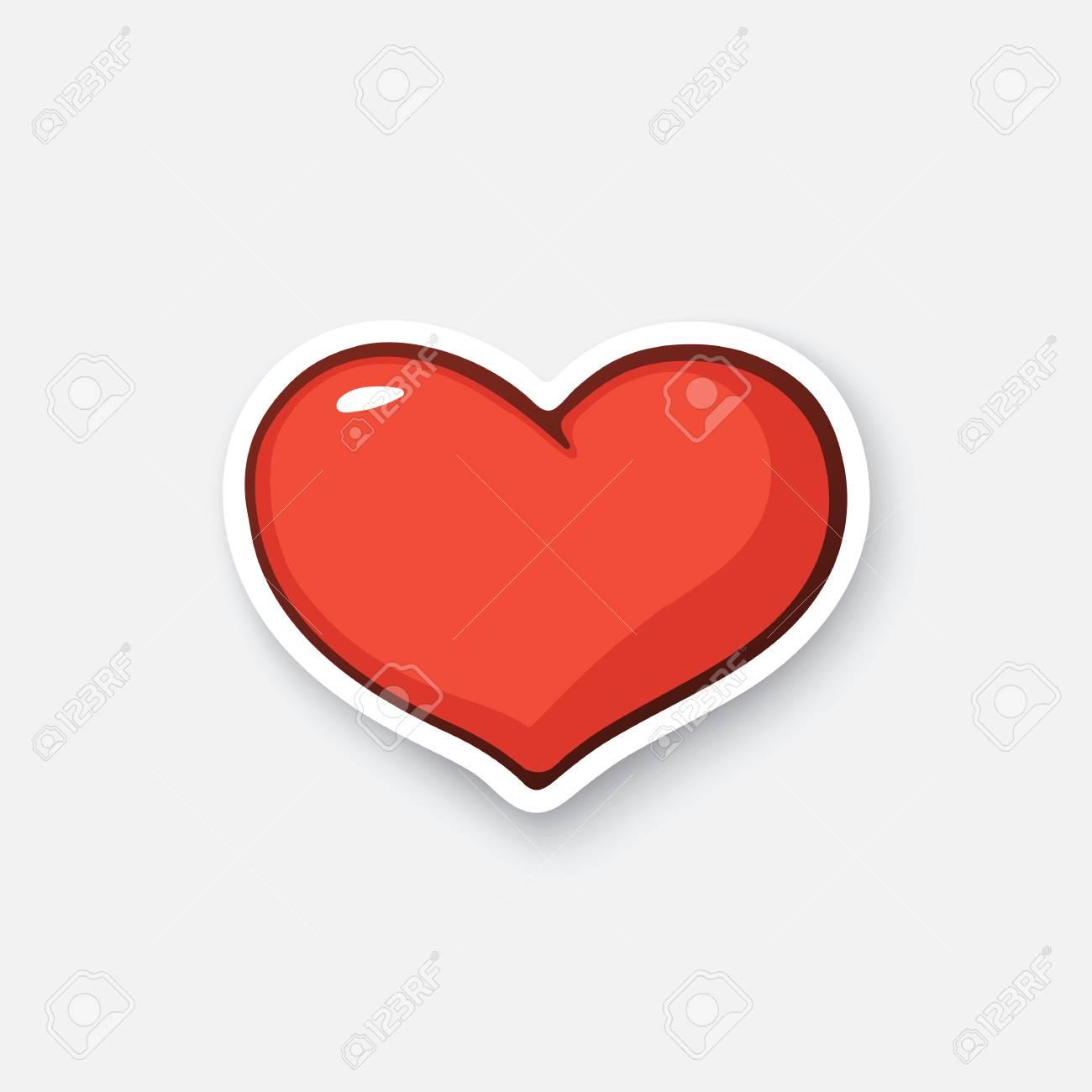 Corazón Etiqueta De Dibujos Animados Ilustraciones Vectoriales, Clip ...
