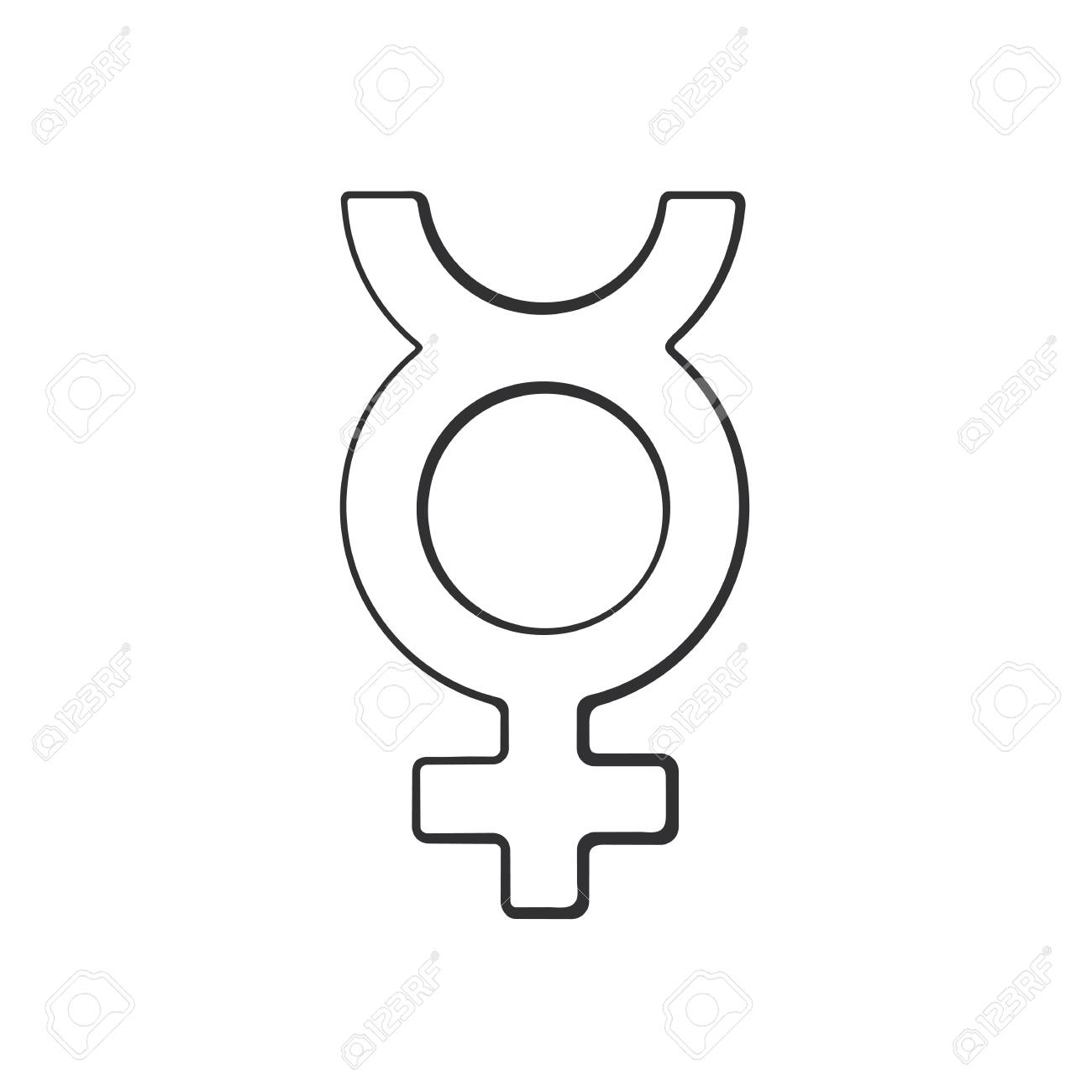 Vector illustration hand drawn doodle with transgender mercury hand drawn doodle with transgender mercury symbol gender pictogram cartoon sketch buycottarizona Choice Image