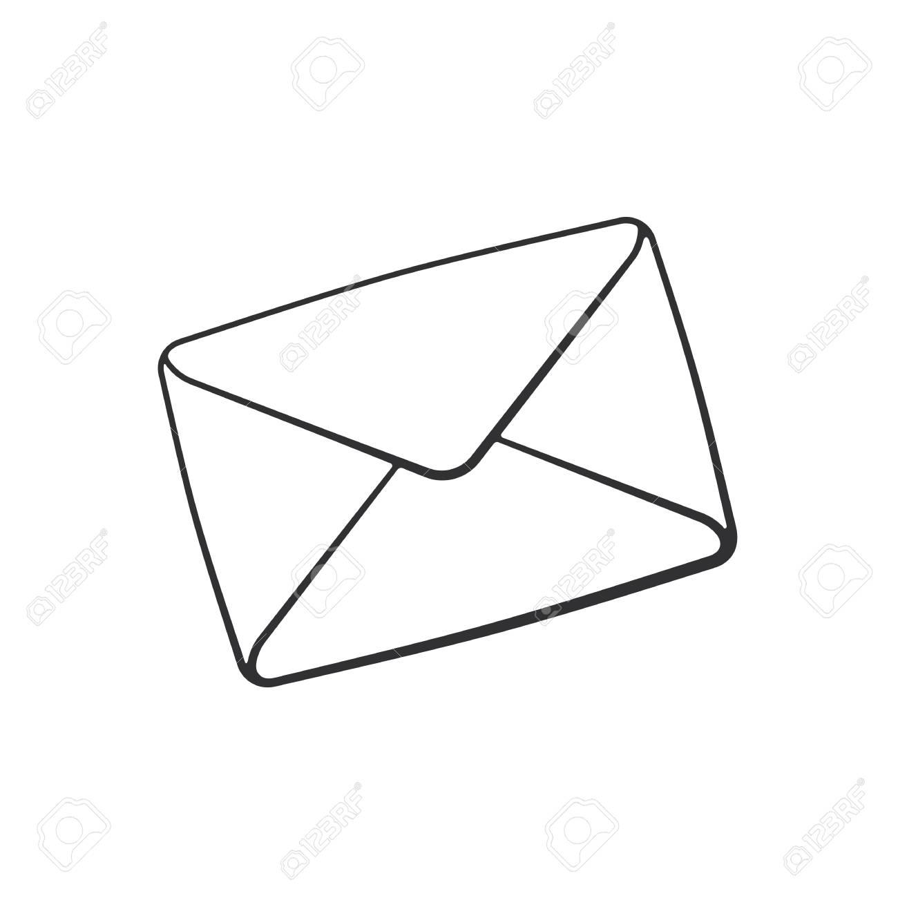 Dessin D Enveloppe illustration vectorielle doodle dessiné main d'enveloppe fermée. pas