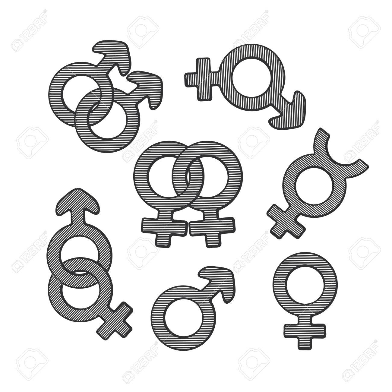 Symbols for gender images symbol and sign ideas symbols for gender choice image symbol and sign ideas vector illustration hand drawn sketch of gender buycottarizona