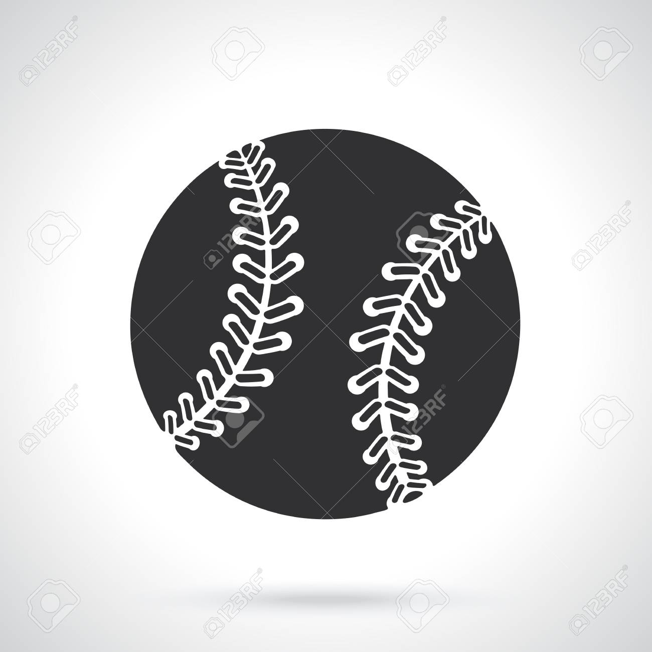 Vector illustration silhouette of baseball ball sports equipment vector vector illustration silhouette of baseball ball sports equipment patterns elements for greeting cards wallpapers m4hsunfo