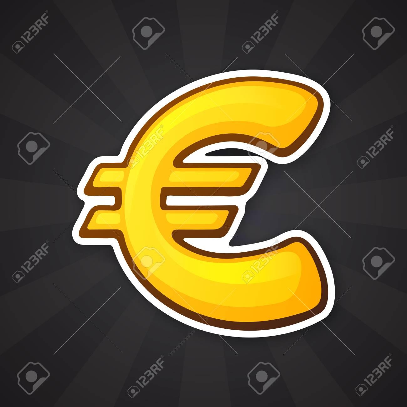 Vector Illustration Golden Euro Sign The Symbol Of World