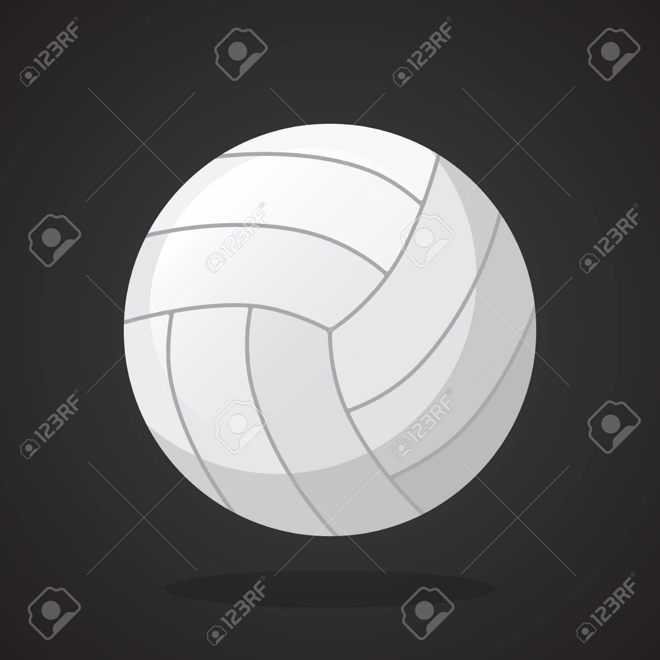 27cca189e5ff4 Foto de archivo - Ilustración de vector de estilo plano. Pelota de voleibol  de cuero Equipo deportivo. Decoración para tarjetas de felicitación
