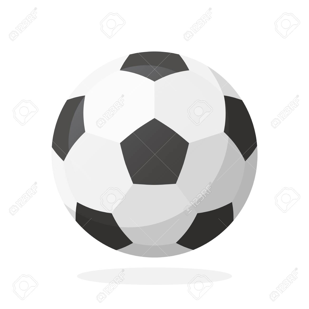 Vector illustration in flat style leather soccer ball sports vector vector illustration in flat style leather soccer ball sports equipment decoration for greeting cards prints for clothes posters wallpapers m4hsunfo