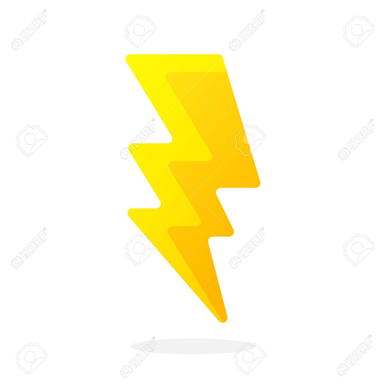 Electric Lightning Bolt Isolated On White Background. Vector ... for Electricity Lightning Bolt  174mzq