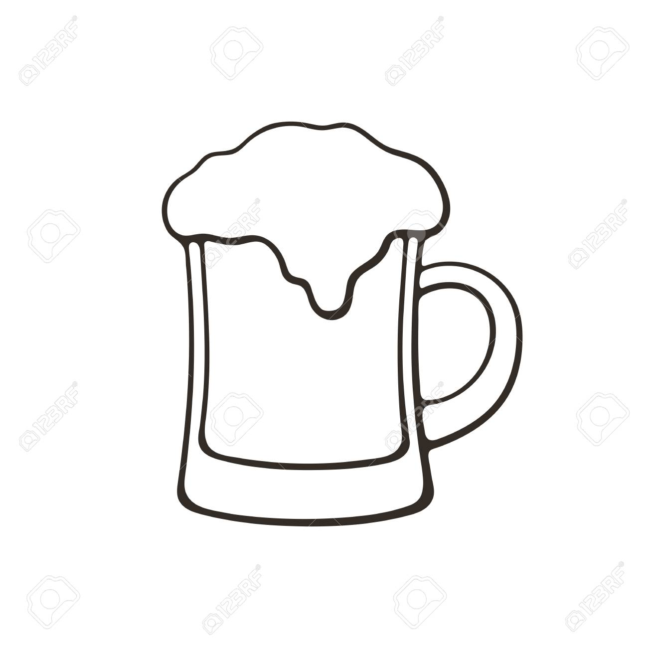 Vector Illustration Hand Drawn Doodle Of A Mug Of Beer With Royalty Free Cliparts Vectors And Stock Illustration Image 88647924