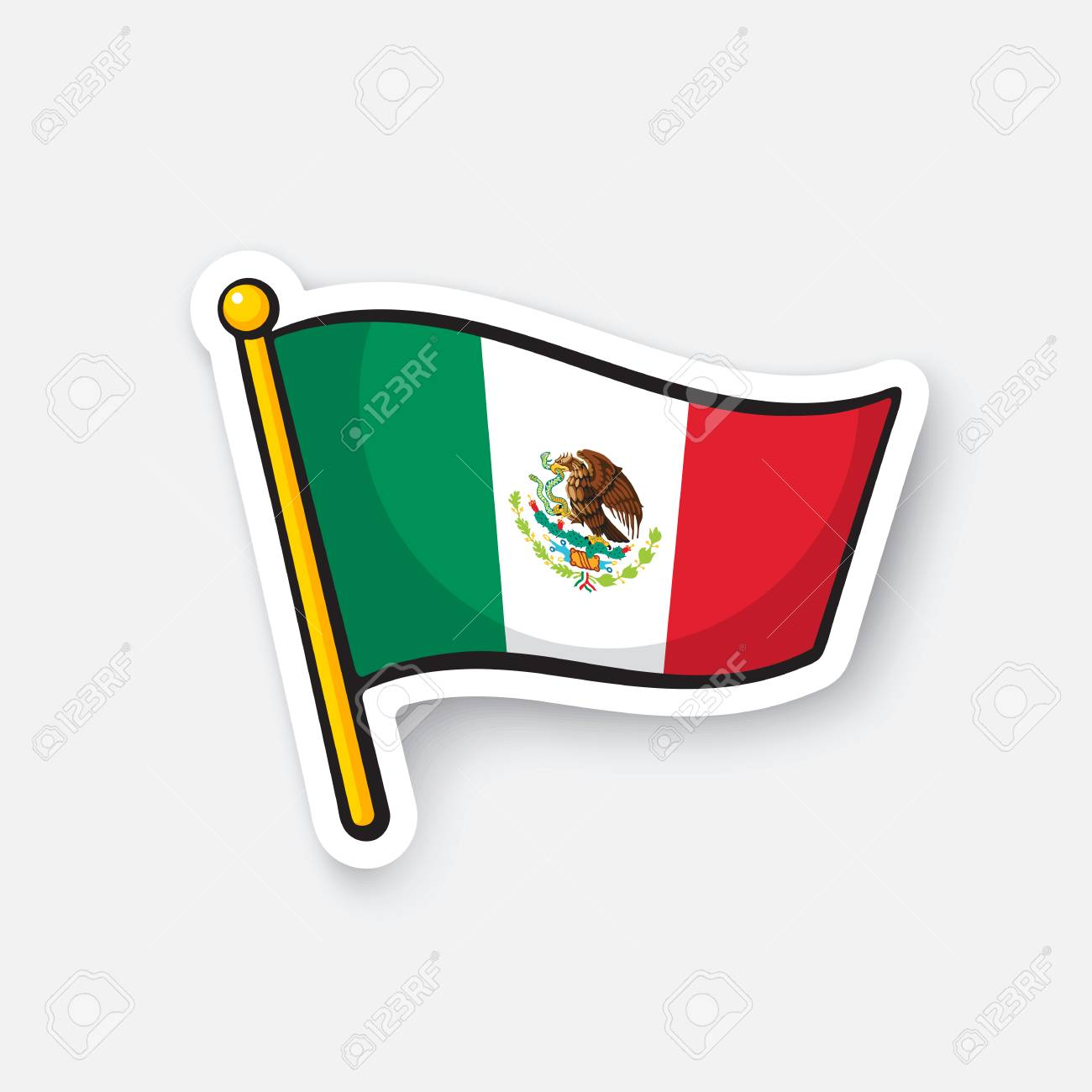 sticker national flag of mexico royalty free cliparts vectors and rh 123rf com new mexico flag symbol vector