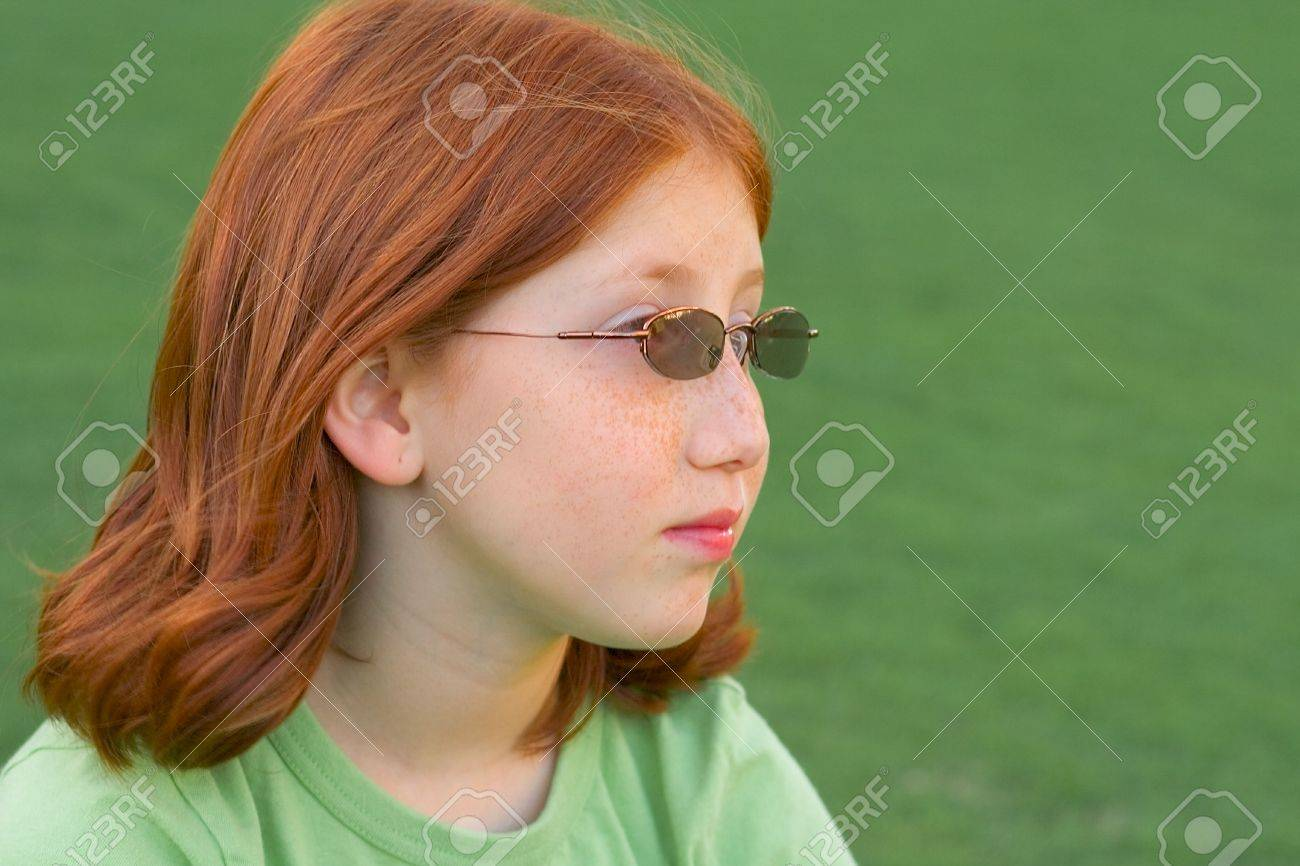 Portrait of red-haired girl Stock Photo - 644343