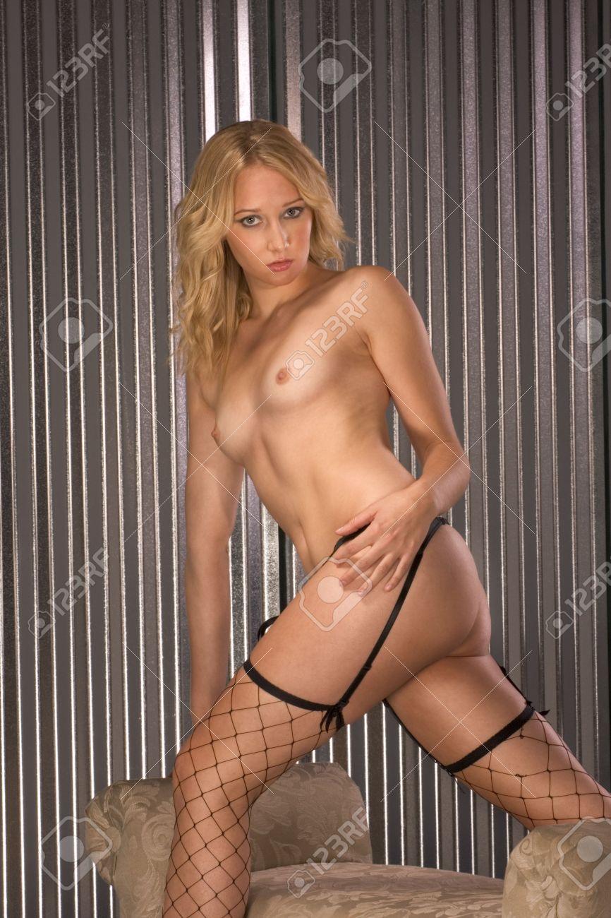 Mature big tit stocking