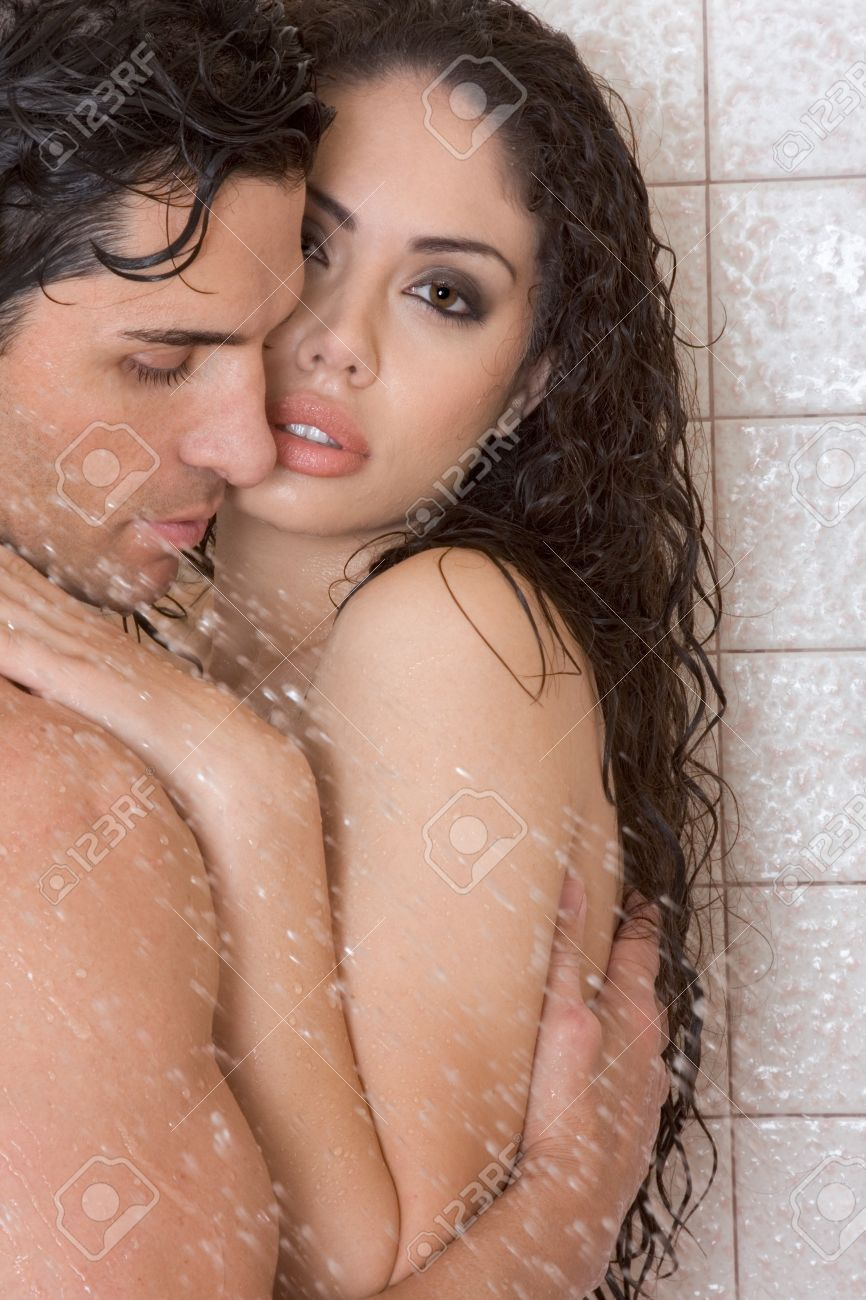 Images - Latina women taking a nude shower