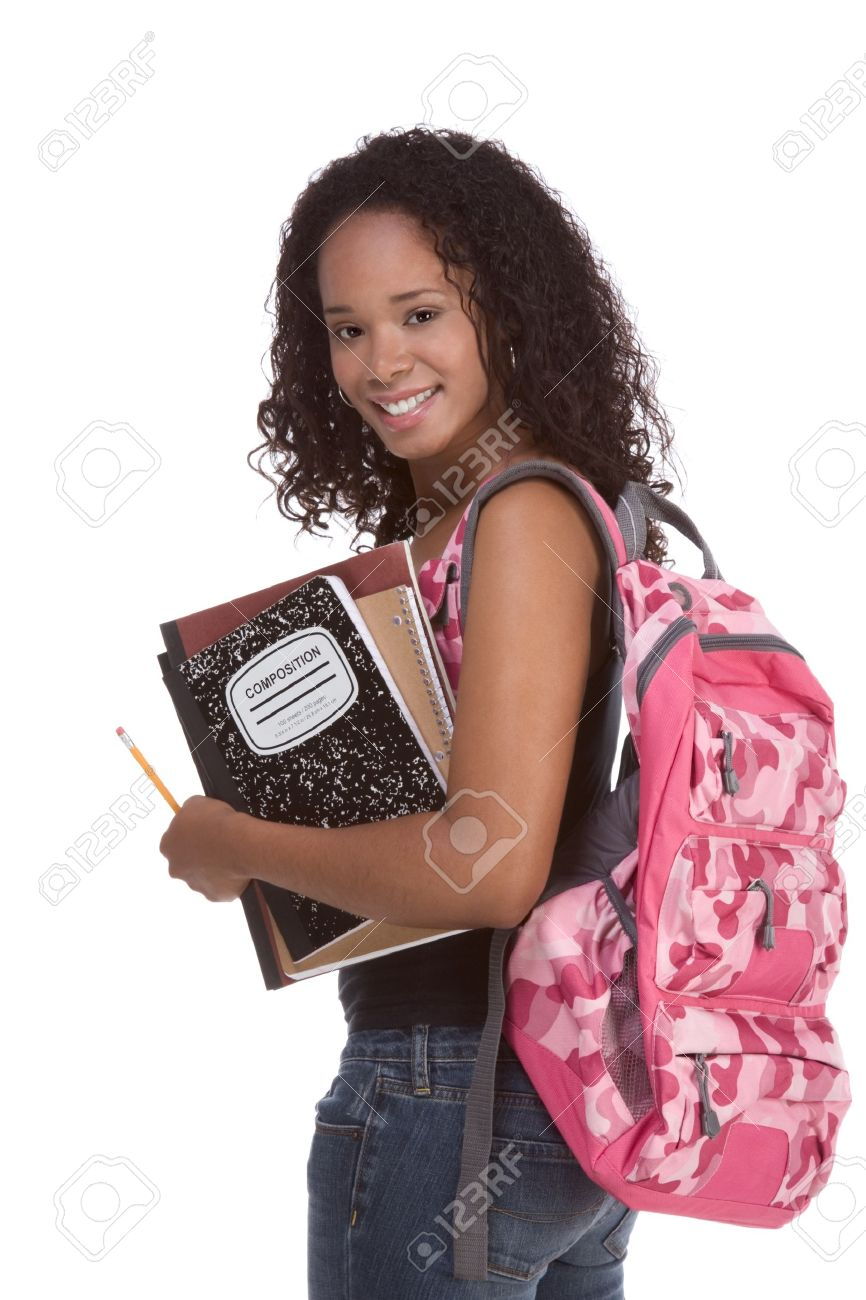 Education Series - Friendly Ethnic Black Female High School ...