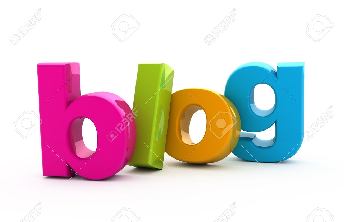 Blog word from colored three-dimensional letters. - 9865232